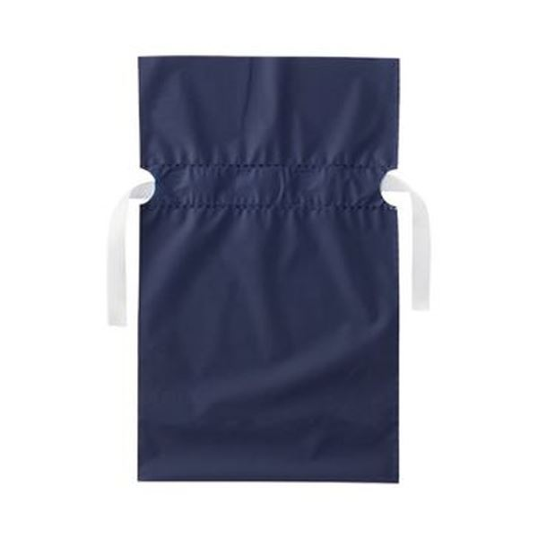 (まとめ)店研創意 ストア・エキスプレス梨地リボン付ギフトバッグ ネイビー 17cm 1パック(20枚)【×20セット】
