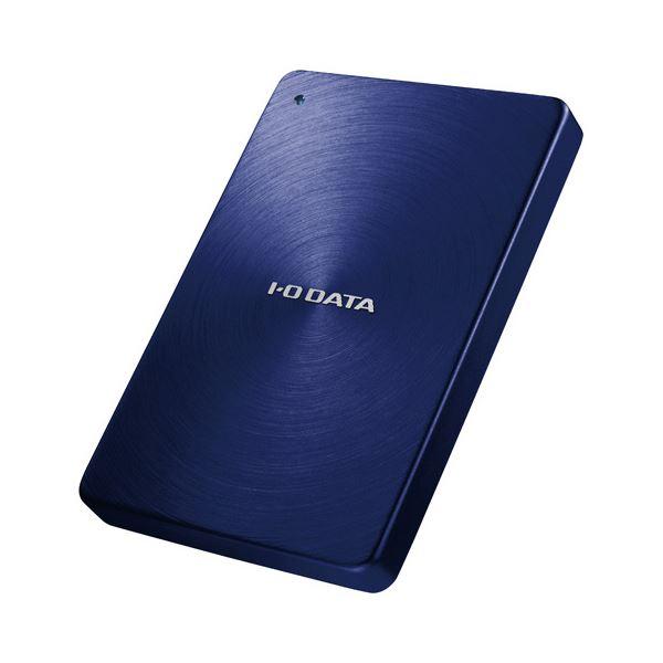 アイオーデータ USB3.0/2.0対応 ポータブルハードディスク「カクうす」 2.0TB ブルー HDPX-UTA2.0B 1台