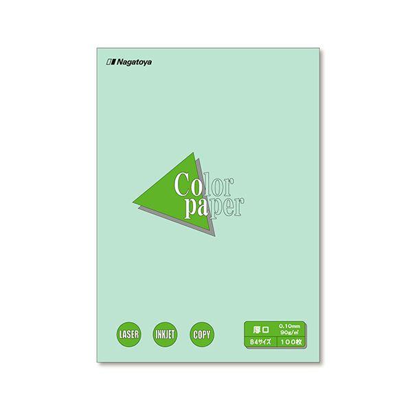 (まとめ) 長門屋商店 Color Paper B4 厚口 浅黄 ナ-2311 1冊(100枚) 【×10セット】