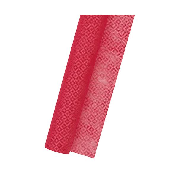 (まとめ) ササガワ 不織布 Jロール700mm×20m 紅 49-9004 1巻 【×10セット】
