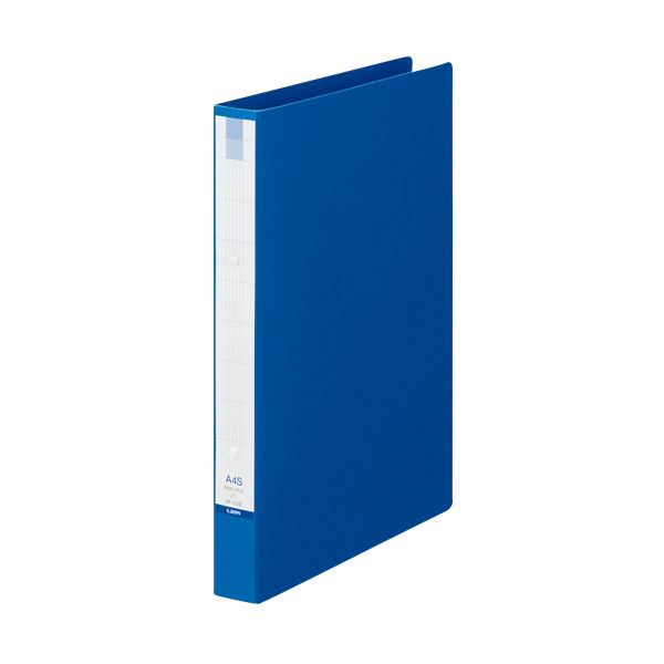 (まとめ) ライオン事務器 リングファイル A4タテ2穴 210枚収容 背幅35mm ブルー RF-103B 1冊 【×30セット】 青