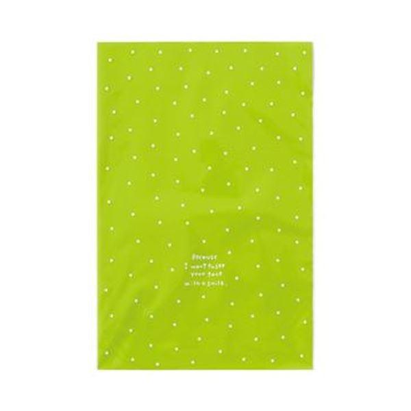 (まとめ)ヘッズ ドットOPPギフトバッグ Lグリーン DT-O2 1パック(50枚)【×20セット】 緑