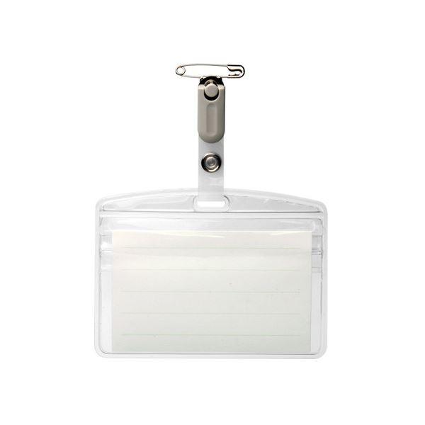 (まとめ) ソニック タッグ名札 ラウンドチャックタイプ クリップ付 NF-952 1パック(10個) 【×10セット】