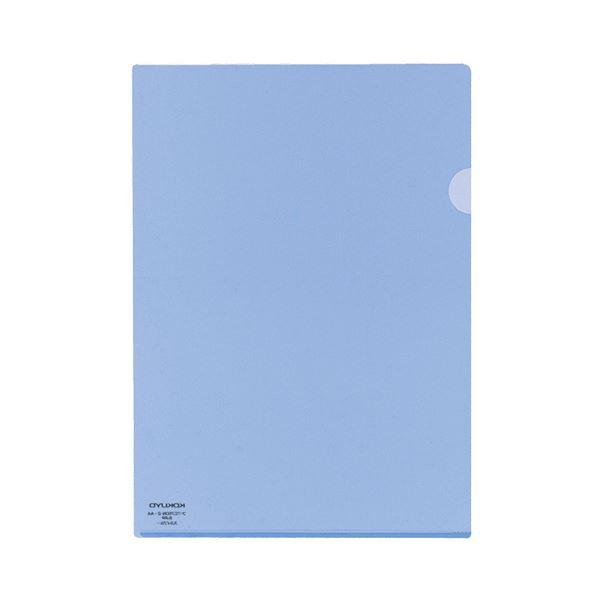 (まとめ) コクヨ クリヤーホルダースーパークリヤー10(テン) A4 スカイブルー フ-TC750N-2 1パック(5枚) 【×30セット】 青