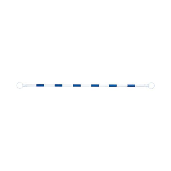 生活用品 インテリア 雑貨 文具 オフィス用品 標識 看板 (まとめ) スマートバリュー コーンバー 青/白 5本 N164J-B/W-5【×3セット】