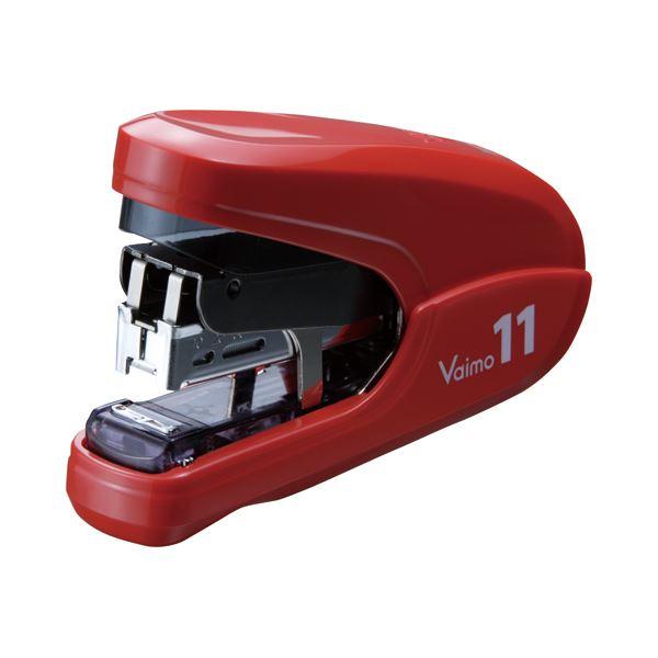(まとめ) マックス バイモ11フラット 40枚とじレッド HD-11FLK/R 1個 【×5セット】 赤