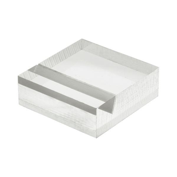 (まとめ) 光 透明アクリルカード立て 30×30×10mm A339-1-6 1パック(6個) 【×10セット】