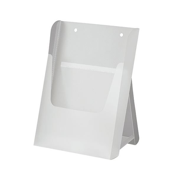 (まとめ)アスト 組立式 EZパンフスタンド A4半透明 745927 1個【×20セット】