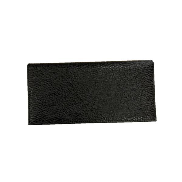 イタリア製ファクトリー革小物 牛革 レザーアイテム 長財布 ウォレット ブラック 399CX 黒
