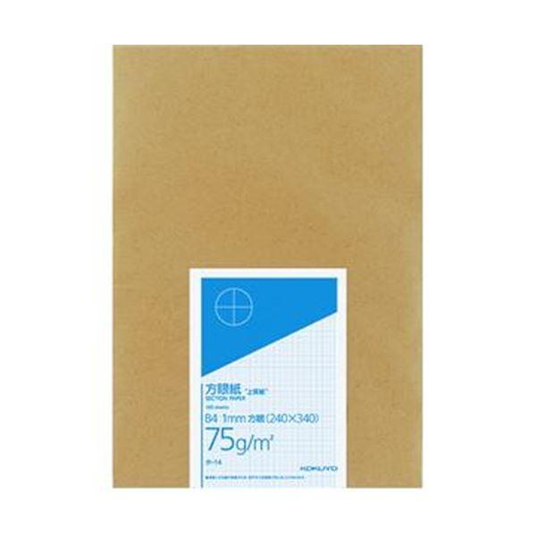 (まとめ)コクヨ 上質方眼紙 B4 1mm目ブルー刷り 100枚 ホ-14 1冊【×10セット】 青