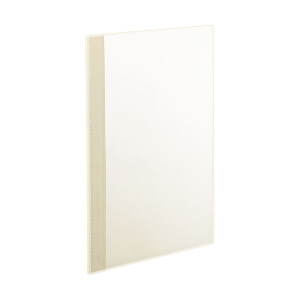 (まとめ)TANOSEE薄型クリアブック(角まる) A4タテ 5ポケット クリア 1パック(5冊) 【×20セット】