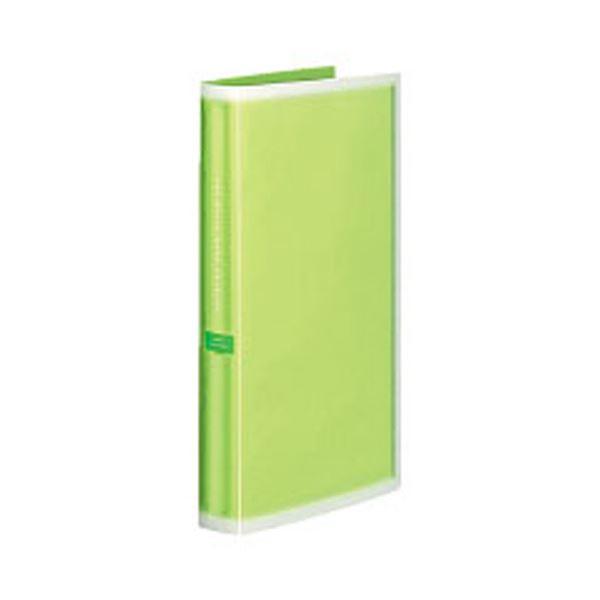 コクヨ ポシェットアルバム(コロレー)固定式 A4スリム(3段厚型)台紙50枚 グリーン ア-NPV30g 1セット(5冊) 緑