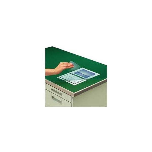 (まとめ)コクヨ デスク (テーブル 机) マット軟質(非転写)ダブル(下敷付) 1587×687mm グリーン マ-467NG 1枚【×3セット】 緑