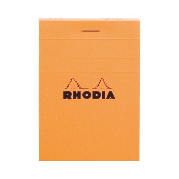 (まとめ) ロディア ブロックロディア No.11105×74mm 5mm方眼 オレンジ 80枚 cf11200 1冊 【×50セット】