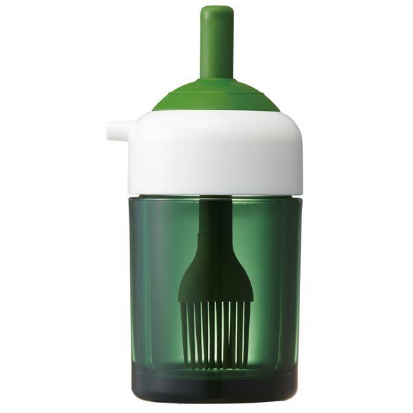 (まとめ) 刷毛でも塗れる オイル差し/油容器 【ベーシック】 2Way 容量(約):150ml キッチン 台所 用品 【48個セット】