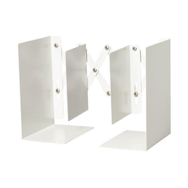 (まとめ)カール事務器 ブックエンド ALB-55-W ホワイト(×10セット) 白