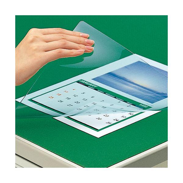 (まとめ)コクヨ デスク (テーブル 机) マット軟質(非転写)ダブル(下敷付) 1387×687mm グリーン マ-447NG 1枚【×3セット】 緑