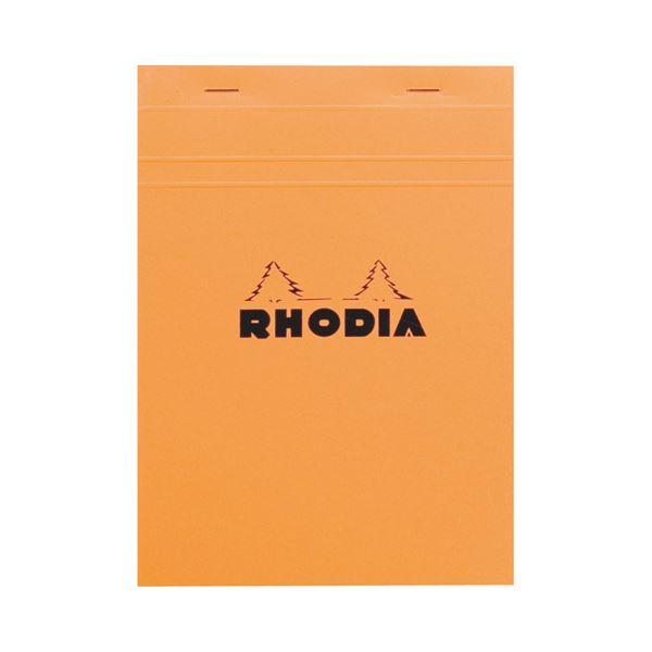 (まとめ) ロディア ブロックロディア No.16210×148mm 5mm方眼 オレンジ 80枚 cf16200 1冊 【×10セット】