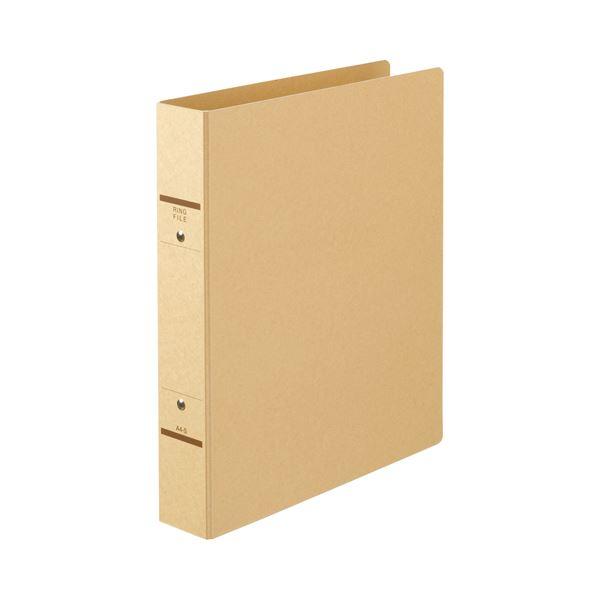 (まとめ) TANOSEE Oリングファイル(紙表紙) A4タテ 2穴 320枚収容 背幅52mm クラフト 1セット(10冊) 【×5セット】