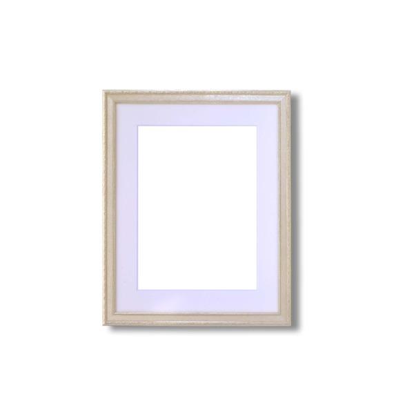 【軽量水彩額】金水彩額・銀水彩額・「UV(紫外線)カットアクリル」 ■柄入り水彩額マット付 F4 シルバー