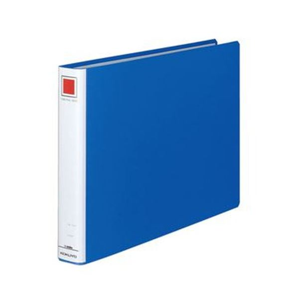 (まとめ)コクヨ チューブファイル(エコ)片開きB4ヨコ 300枚収容 30mmとじ 背幅45mm 青 フ-E639B 1セット(2冊)【×5セット】