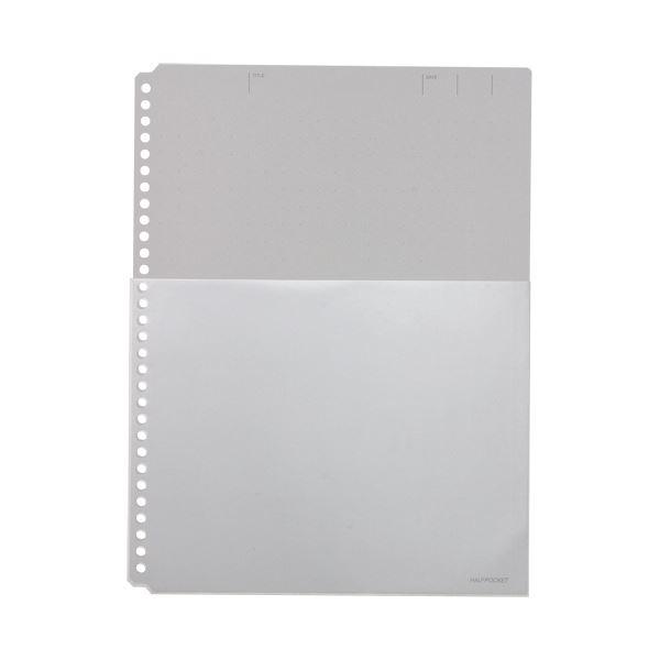(まとめ)キングジム ハーフポケット厚口 A4タテ30穴 黒 108HP 1パック(10枚) 【×20セット】