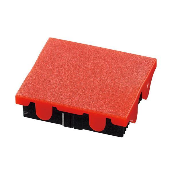 (まとめ) シャイニー スタンプ S-520用交換パッド 赤 S-520-7R 1個 【×30セット】