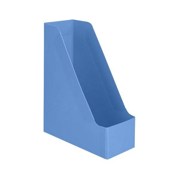 (まとめ)TANOSEEPP製ボックスファイル(組み立て式) A4タテ ブルー 1個 【×30セット】