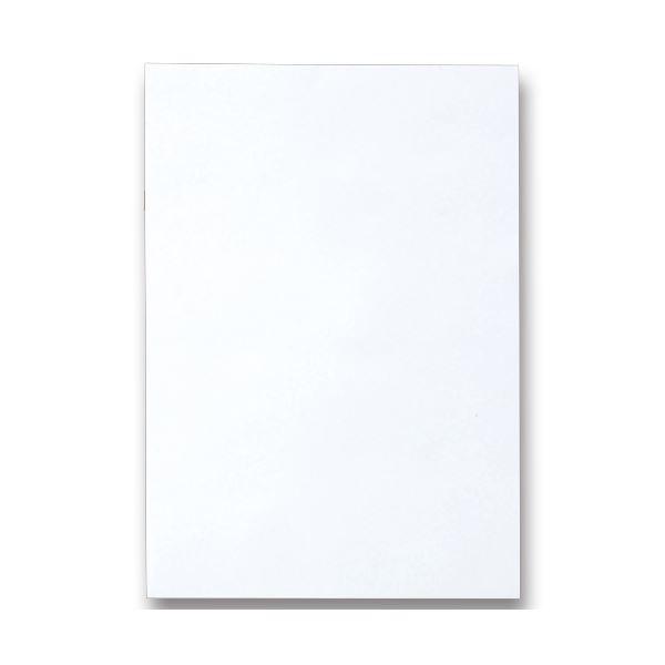 (まとめ) TANOSEE 色画用紙 八つ切 ゆき 1パック(10枚) 【×50セット】