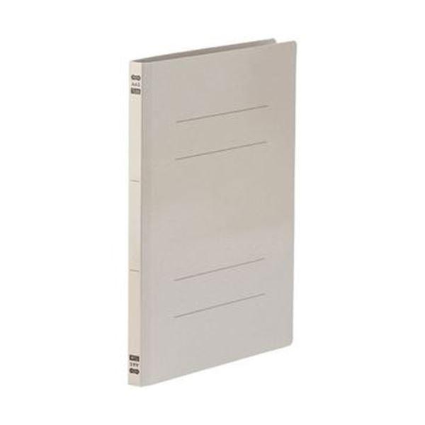 (まとめ)TANOSEE フラットファイルPPラミネート表紙タイプ A4タテ 150枚収容 背幅17.5mm グレー 1セット(120冊:10冊×12パック)【×3セット】