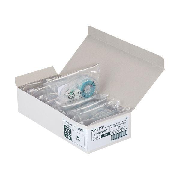 (まとめ) コクヨ テープのり ドットライナーしっかり貼るタイプ(透明) つめ替え用 8.4mm×16m タ-D400-08T 1セット(10個) 【×3セット】