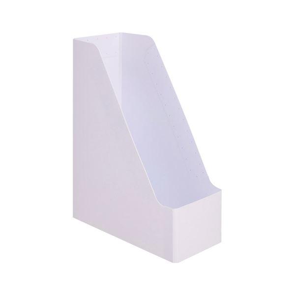 (まとめ)TANOSEEPP製ボックスファイル(組み立て式) A4タテ ホワイト 1個 【×30セット】