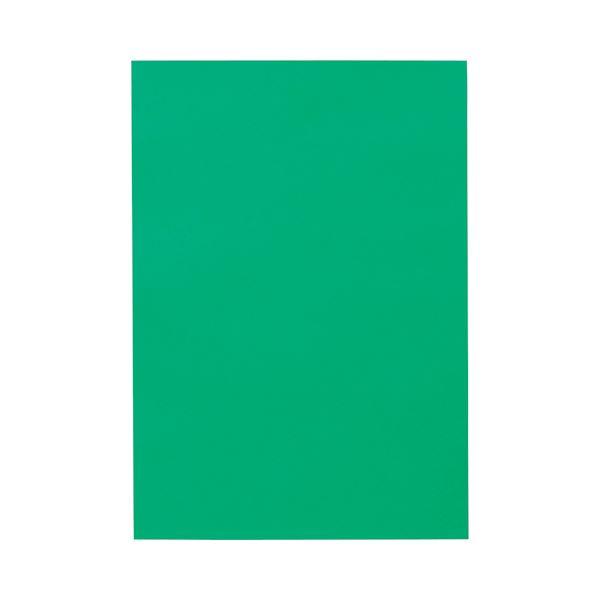 (まとめ) TANOSEE 色画用紙 八つ切 みどり 1パック(10枚) 【×50セット】
