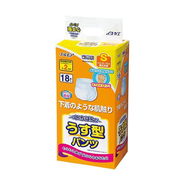 (まとめ)カミ商事 エルモア いちばんうす型パンツ S 1パック(18枚)【×5セット】