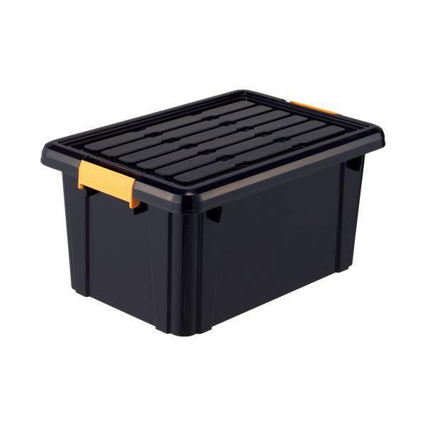 高い耐久性 頑丈 箱(工具箱) ブラック 325×465×230cm 【×10セット】 黒