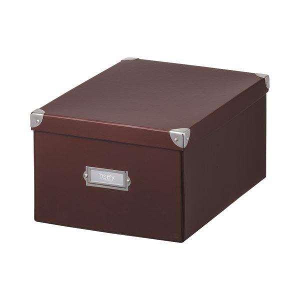 (まとめ) キングジム Toffy マジックボックス L ショコラブラウン TMX-002N-CBR 1個 【×10セット】 茶