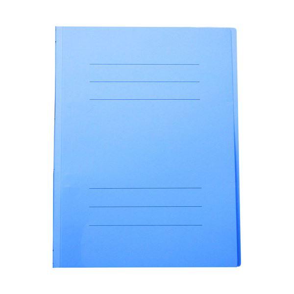 (まとめ) フラットファイルJ A4タテ150枚収容 背幅18mm スカイブルー フF-J80SB 1セット(10冊) 【×30セット】 青