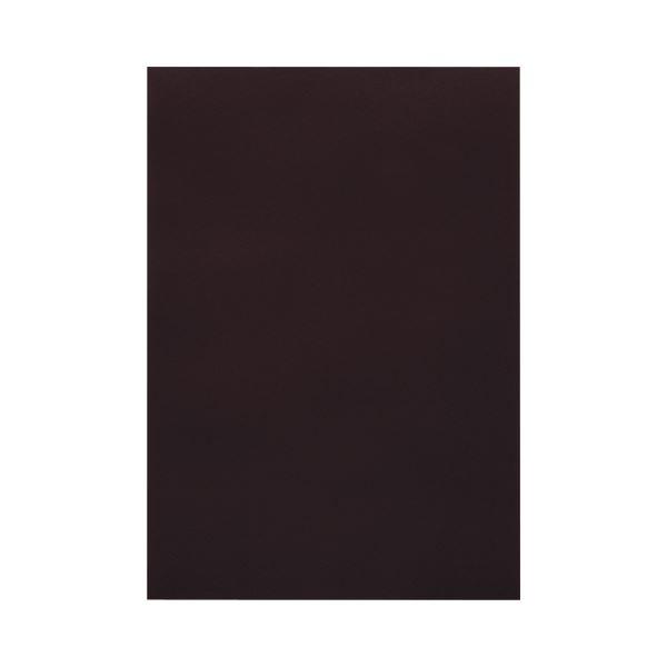 (まとめ) TANOSEE 色画用紙 八つ切 くろ 1パック(10枚) 【×50セット】