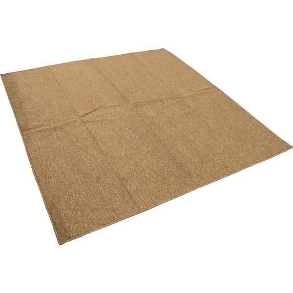 カーペット ラグ 平織 フリーカット ループ / 本間 3畳 191×286cm ブラウン プレーン 九装 茶