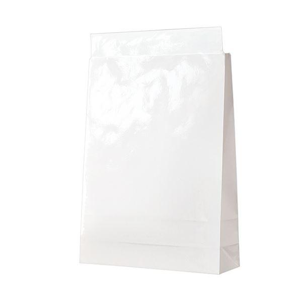 (まとめ)TANOSEE 宅配袋 PPフィルム加工大 白 封かんテープ付 1パック(100枚)【×3セット】