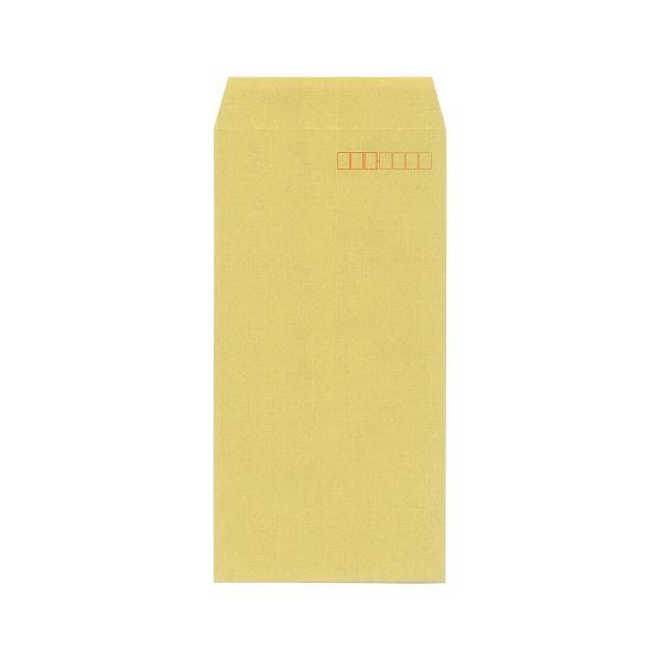 (まとめ)今村紙工 地紋入クラフト封筒 長3 100枚テープなし(×20セット)