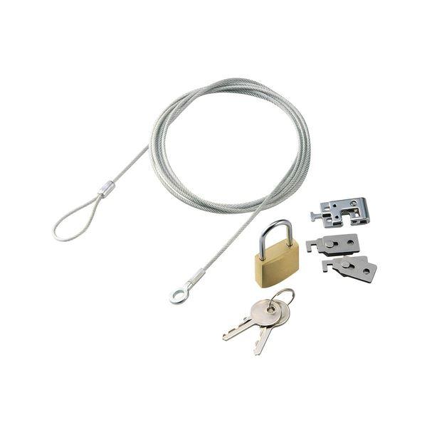 (まとめ) 凹型、凸型スロット両対応セキュリティロック ESL-25 1パック 【×5セット】