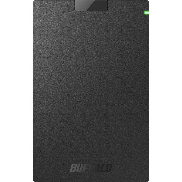 バッファロー ミニステーション USB3.1(Gen.1)対応 ポータブルHDD スタンダードモデル ブラック2TB 黒