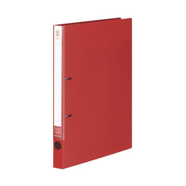 (まとめ)コクヨ リングファイル(NEOS)A4タテ 2穴 180枚収容 背幅27mm カーマインレッド フ-NE420R 1冊 【×20セット】 赤