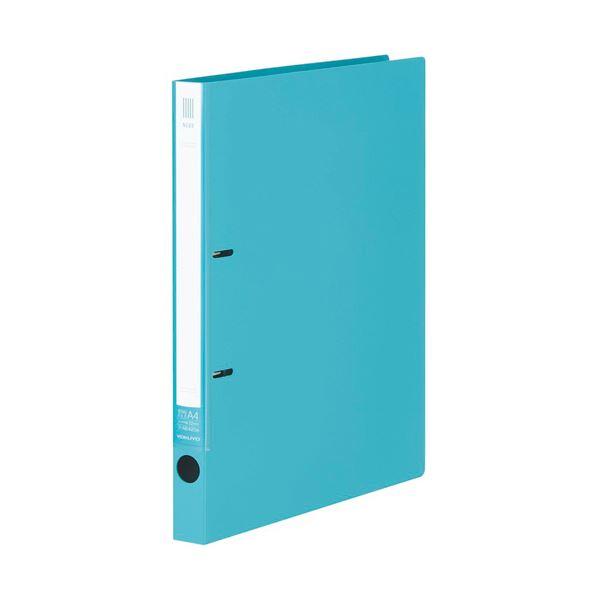 (まとめ)コクヨ リングファイル(NEOS)A4タテ 2穴 180枚収容 背幅27mm ターコイズブルー フ-NE420B 1冊 【×20セット】 青