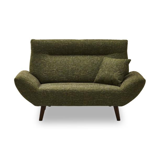 ソファ 2人掛け モスグリーン 緑