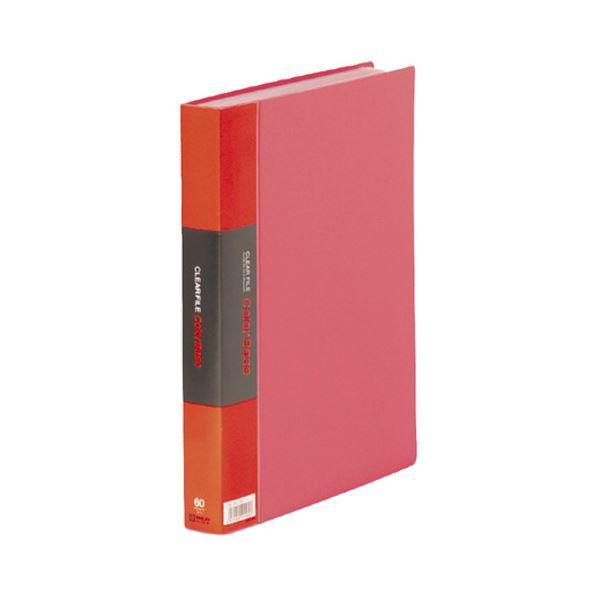 (まとめ) キングジム カラーベーストリプル A4タテ 60ポケット 背幅35mm 赤 132-3C 1冊 【×5セット】