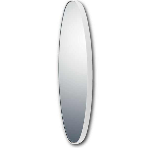 スリムラインミラー オーバルロング グロスホワイト 白
