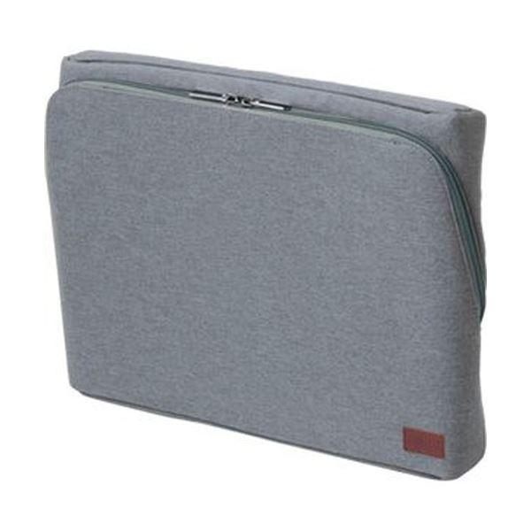 (まとめ)ソニック ユートリム スマ・スタ立つバッグインバッグ ワイドA4 グレー UT-1905-GL 1個【×3セット】