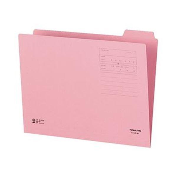 (まとめ)コクヨ 1/4カットフォルダー(カラー)A4 第4見出し ピンク A4-4F-4P 1セット(10冊)【×20セット】